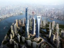 Världens snabbaste hissar installeras i Shanghai Tower