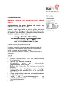 Einladung Dankeschön-Veranstaltung Ehrenamt 2019