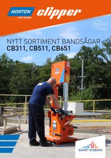 Norton Clipper Bandsågar CB311, CB511, CB651 - Broschyr