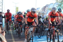Cyclists took to the road for the Discovery 947 Ride Joburg