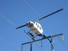 Linjeinspeksjon med helikopter
