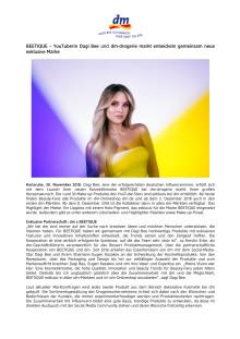 Presseinformation: BEETIQUE – YouTuberin Dagi Bee und dm entwickeln neue exklusive Marke