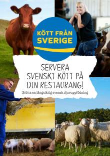 Folder: Stötta en långsiktig svensk djuruppfödning, servera svenskt kött
