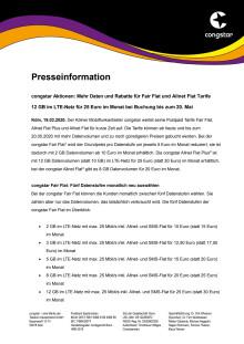 congstar Aktionen: Mehr Daten und Rabatte für Fair Flat und Allnet Flat Tarife