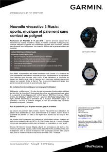Nouvelle vívoactive 3 Music:  sports, musique et paiement sans contact au poignet