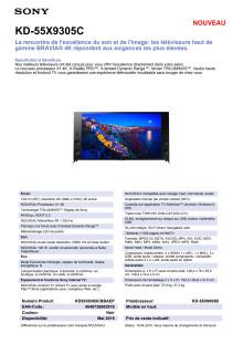 KD-55X9305C von Sony