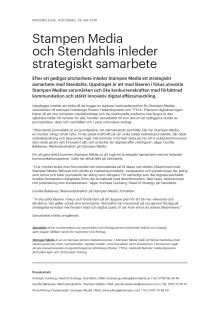 Stampen Media och Stendahls inleder strategiskt samarbete