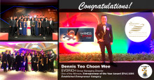EVORICH Group MD Awarded as one of the  Entrepreneur of the Year Award (EYA) Winners 2016