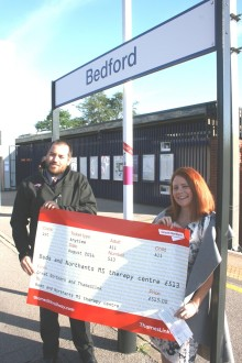 Thameslink and Great Northern railway staff vote to donate £513 to help Bedford MS charity