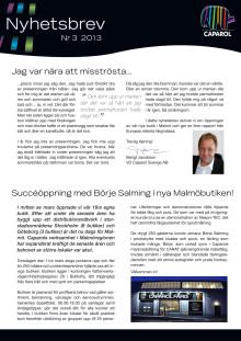 Caparols nyhetsbrev - 2013-03 April