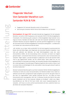 Vom Santander Marathon zum Santander RUN & FUN