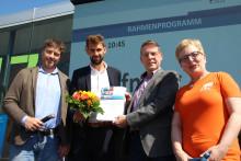 10. Promos-Stipendium an Bachelorstudent Daniel Berger: 1.800 Euro für dreimonatiges Auslandspraktikum