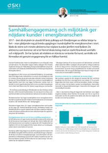 Samhällsengagemang och miljötänk ger nöjdare kunder i energibranschen