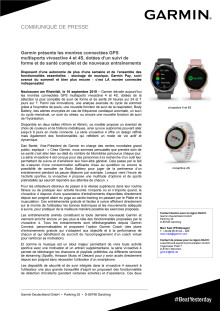 Garmin présente les montres connectées GPS multisports vívoactive 4 et 4S, dotées d'un suivi de forme et de santé complet et de nouveaux entraînements