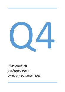 Delårsrapport fjärde kvartalet 2018