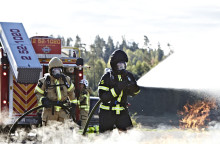 Procurator AB visar fallskydd och andningsskydd på Norrmässan, 2014
