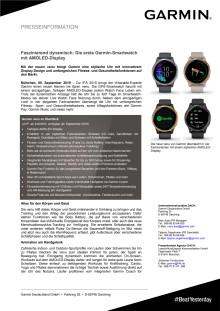 Faszinierend dynamisch: Die erste Garmin-Smartwatch mit AMOLED-Display