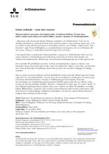 Linné ordnade – men inte mossor