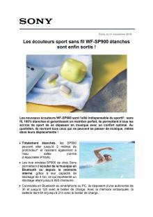 Les écouteurs sport sans fil WF-SP900 étanches sont enfin sortis !