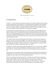 Cigar City Brewing Pressrelease