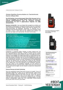 Globale Satelliten-Kommunikation im Taschenformat: Garmin inReach Mini