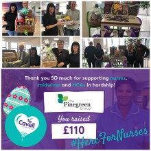 Finegreen Easter Raffle raises £110 for Cavell Nurses' Trust!