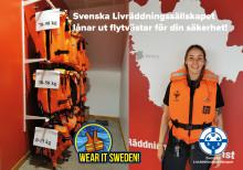 Svenska Livräddningssällskapet lånar ut flytvästar för din säkerhet!