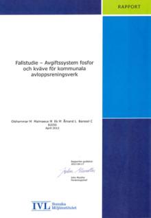 C SVU-rapport C IVL B2050: Fallstudie – Avgiftssystem fosfor och kväve för kommunala avloppsreningsverk
