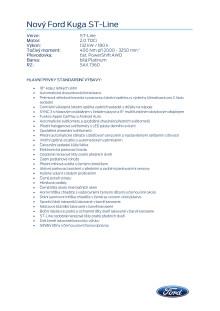 Specifikace vozu Ford Kuga ST-Line