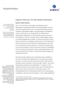 Eigener Chef sein: Für die meisten Deutschen keine Alternative