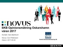 SKB Opinionsundersökning Oskarshamn 2017