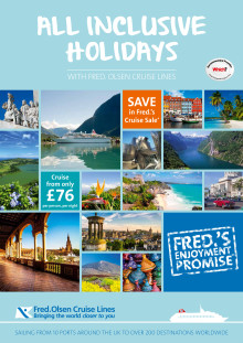 Book your 'All Inclusive Holiday' with Fred. Olsen Cruise Lines in 2015/16