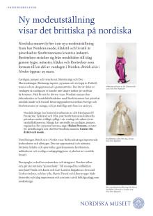 Pressmaterial British så in i Norden på Nordiska museet