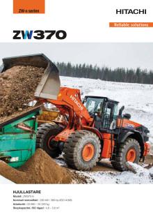 Broschyr Hitachi ZW370-6 hjullastare