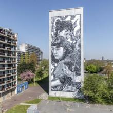 Tampereelle uusi muraali meksikolaisen Paola Delfinin maalaamana