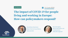 #AskTheExpert webinar 10 June: How are people living and working in the EU experiencing this pandemic?