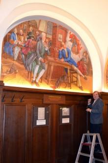 """""""Goethes Faust-Inspirationen"""" in Auerbachs Keller -  Neues Wandgemälde von Volker Pohlenz"""