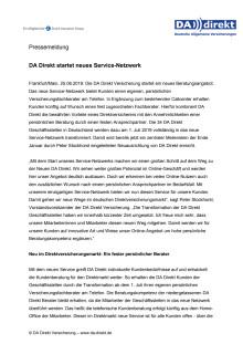 DA Direkt startet neues Service-Netzwerk