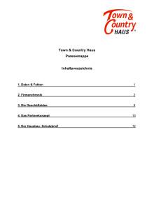 Unternehmensinformation Hausbau - Pressemappe 2018