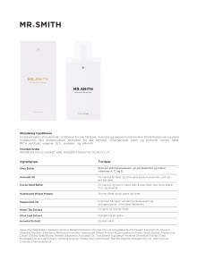 Mr smith Produktinfo Stimulating Conditioner