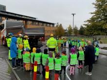 Lærte skolebarna om trafikksikkerhet