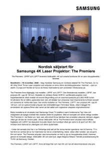 Nordisk säljstart för Samsungs 4K Laser Projektor: The Premiere