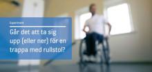 Kan man ta sig upp (och ner) för en trappa i rullstol?
