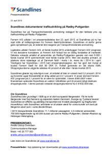 Scandlines dokumenterer trafikudvikling på Rødby-Puttgarden