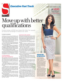 Further studies at MDIS have helped Ms Hallie Tay upgrade her skills and knowledge to advance her career