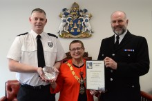 Thames Valley Police Officer presented with Malcolm Eidmans Award – Reading