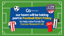 Go North East to take part in Football Shirt Friday in aid of Cancer Research UK and the Bobby Moore Fund