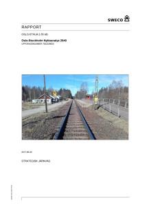 Nyttoanalysen Oslo-Stockholm, Slutrapport