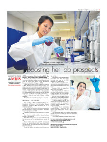 Degree course helps to advance biomedical career