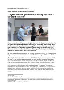 """Findus släpper ny reklamfilm med Frysmannen: """"I frysen bevaras grönsakernas näring och smak - här står tiden still"""""""